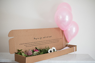 4. Blooms & Balloons: Pearlized Balloons